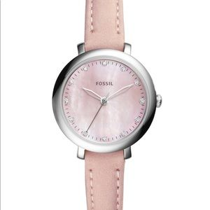 Women Fossil Jacqueline Three-Hand Leather Watch
